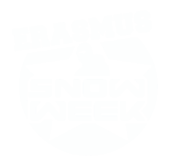 Erasmus Snow Week Logo White